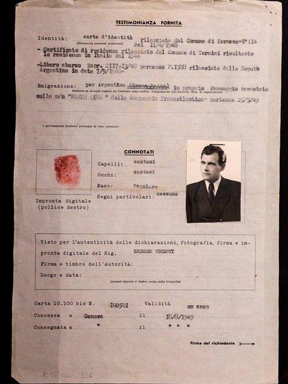 Pasaporte falso de Joseph Mengele