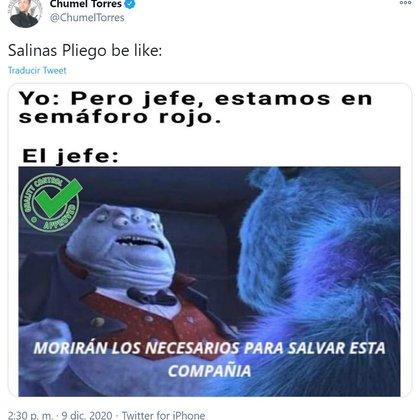 El youtuber publicó este meme en referencia a Salinas Pliego (Foto: Archivo)
