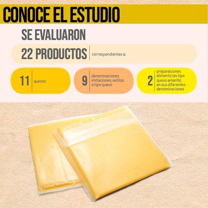 La Profeco realizó un estudio para evaluar 11 marcas de queso tipo americano (Foto: Revista del Consumidor de noviembre 2020)