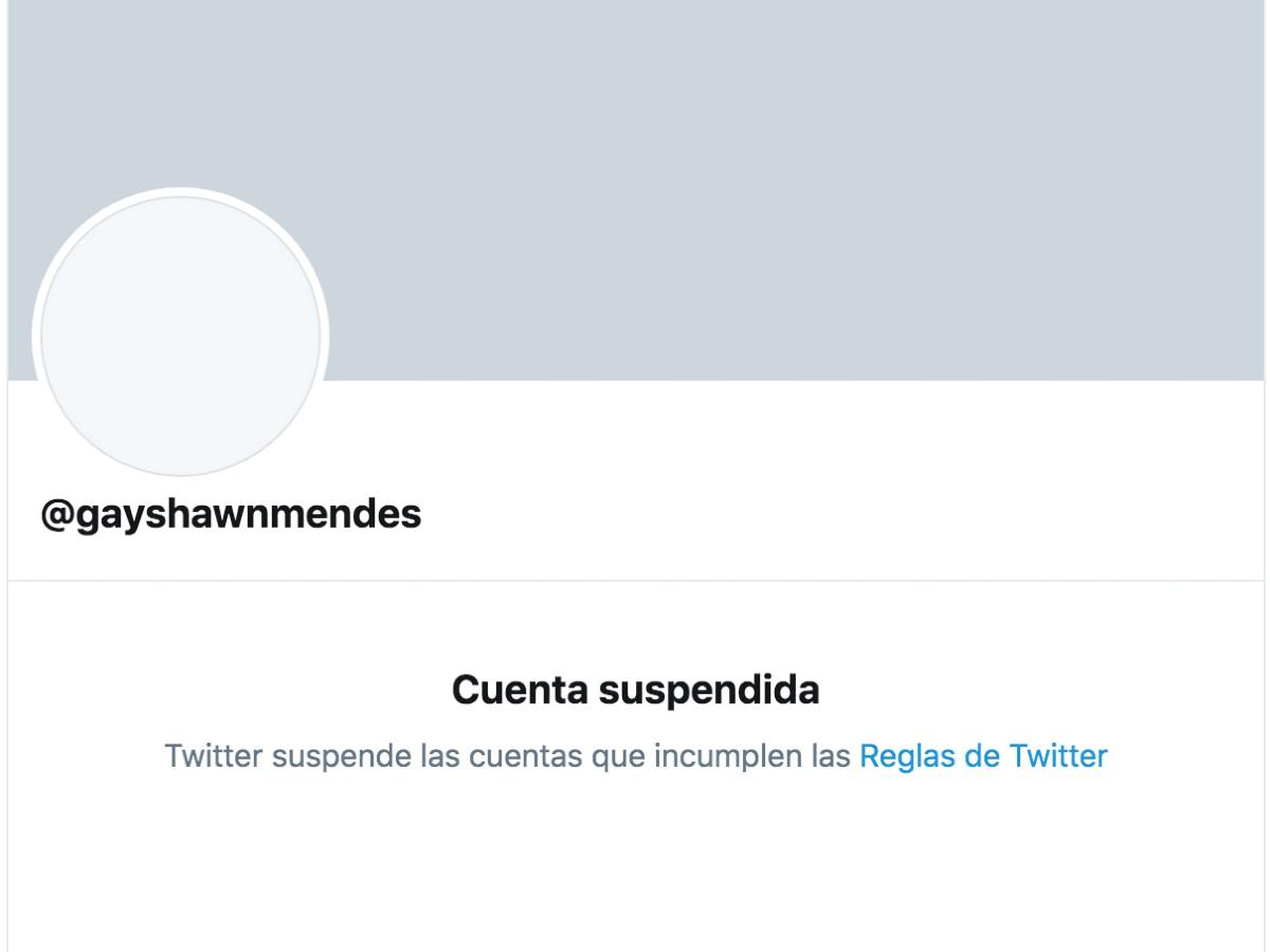 Twitter le suspendió la cuenta.