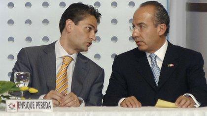 Juan Camilo Mouriño y Felipe Calderón (Foto: Especial)