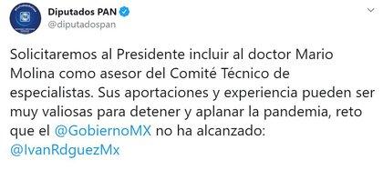 Los legisladores de Acción Nacional no le creen a López-Gatell (Foto: Twitter / @diputadospan)