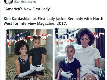 Kim ya había emulado a la Jackie Kennedy, emblemática primera dama, en 2017 (Foto: Captura de pantalla)