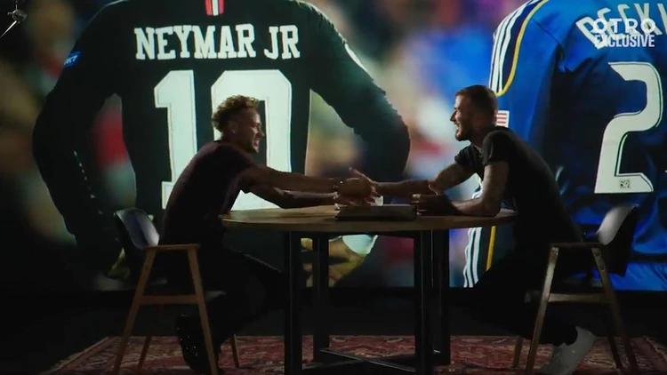 Neymar cerró el trato con Beckham (otro exclusive captura)