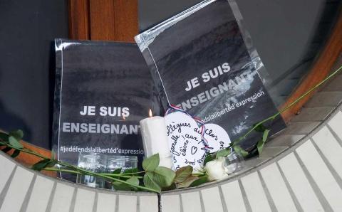 Arrestan a 9 tras la decapitación de un profesor en Francia