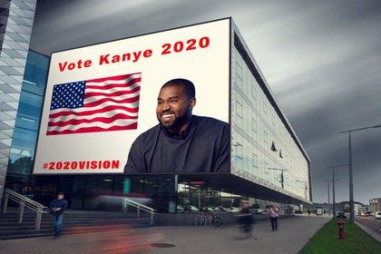Kanye y el que podría ser su lema de campaña