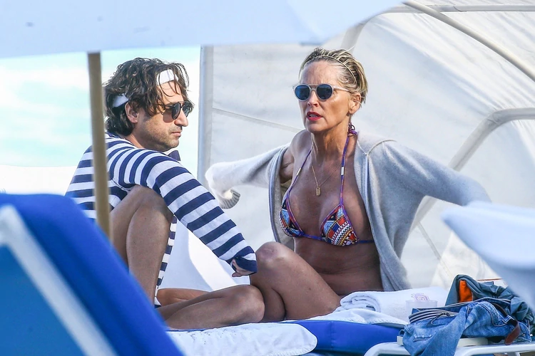 Sharon Stone con su ex pareja Angelo Boffa (The Grosby Group)
