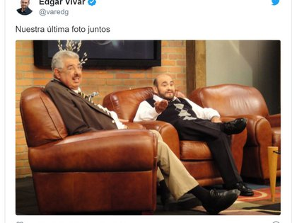 Édgar Vivar fue quien confirmó la noticia en su cuenta de Twitter (Foto: Archivo)
