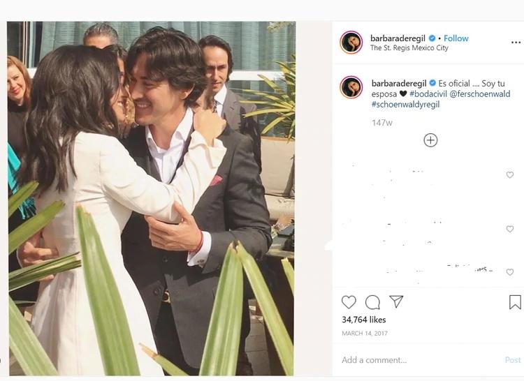 En 2017 se casaron por lo civil (Foto: captura de pantalla)