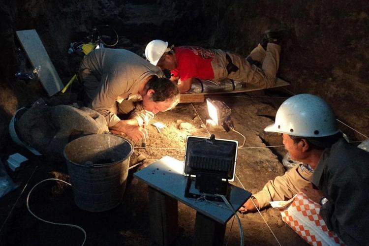 Durante la investigación del Templo de la Serpiente Emplumada se dieron dos derrumbes, aún así los arqueólogos encargados hicieron grandes y asombrosos descubrimientos (Foto: INAH)