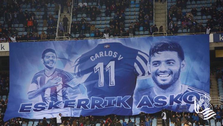 El mexicano llegó a la Real Sociedad, club donde más brilló en toda su carrera (Foto: Twitter/ @RealSociedad)