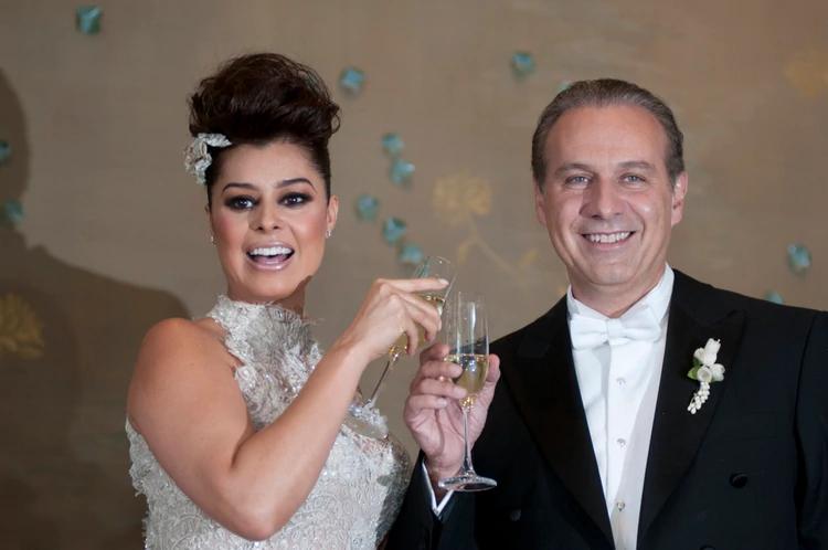 Después de casi 5 años de relación, Yadhira Carrillo se casó con Juan Collado. FOTO: FRANCISCO RODRÍGUEZ /CUARTOSCURO.COM