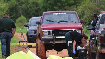 Los hechos sucedieron en Lake Streety Road, un camino de tierra en Frostproof, Florida, la noche del 17 de julio de 2020 (Polk County Sheriff's Office)