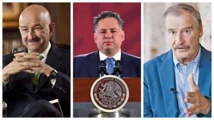 Carlos Salinas de Gortari, Santiago Nieto, y Vicente Fox (Foto: Especial)