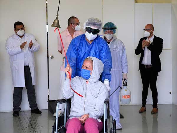 la enfermera general Jael Gabriela Gutiérrez afirmó que una vez rehabilitada continuará en la línea de enfrente contra el Covid-19. Foto: IMSS