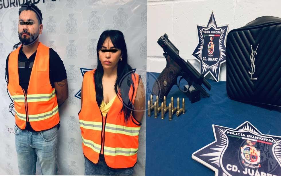 Cae pareja en posesión de un arma de fuego